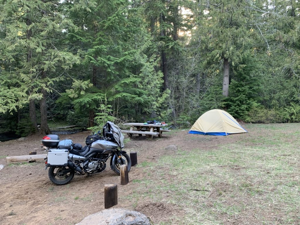 Forest Creek Campground, 2007 Suzuki V-Strom 650