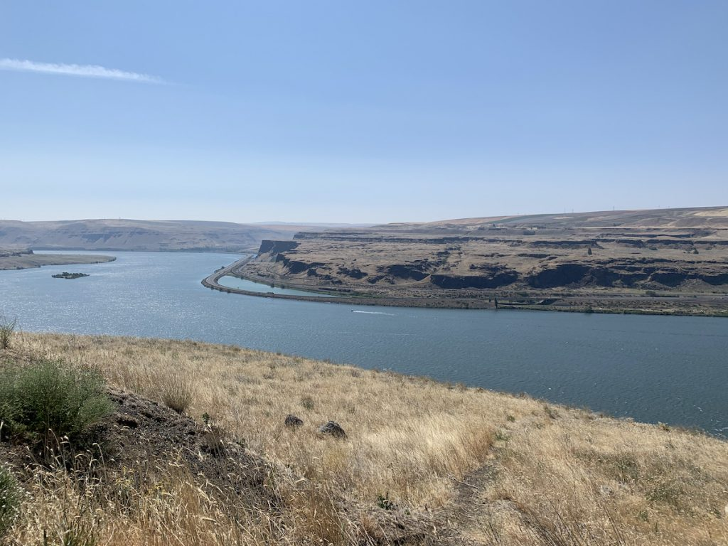 Columbia River, Wishram Heights, Washington, looking eastward.